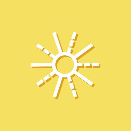weather forecast icon with sun. Modern Icon for brand. Illustration