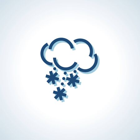 weather forecast icon with cloud and snow. Modern Icon forbrand. llustration. Illustration