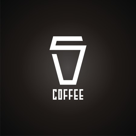 logo with cup of coffee. Modern Icon for company brand. Vector Illustration.