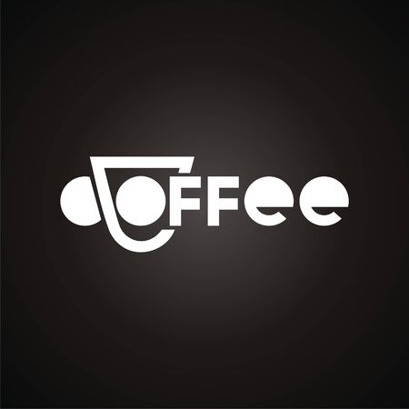 logo with cup and text coffee. Modern Icon for company brand. Vector Illustration. Illustration