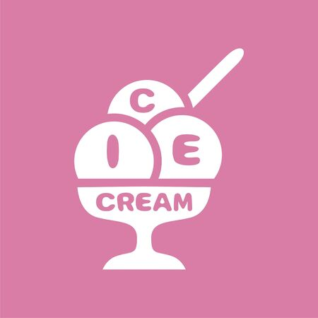 logo ice-cream. Modern design of icons, signs and symbols. Vector illustration