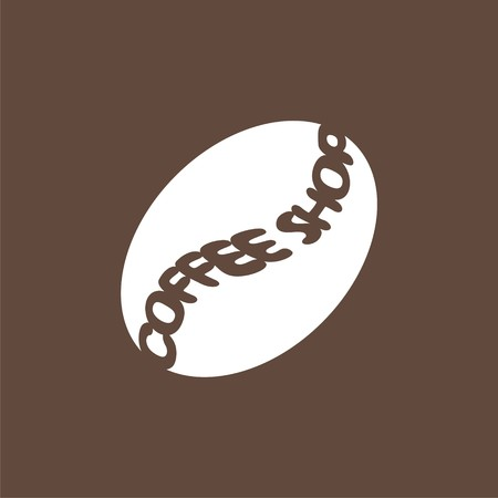 logo with coffee bean. Modern Icon for company brand. Vector Illustration.