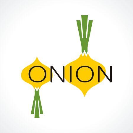 logo with onions. Stock Illustratie