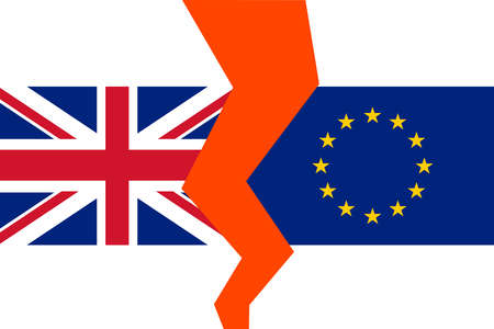 Flag of England and European Union. 向量圖像