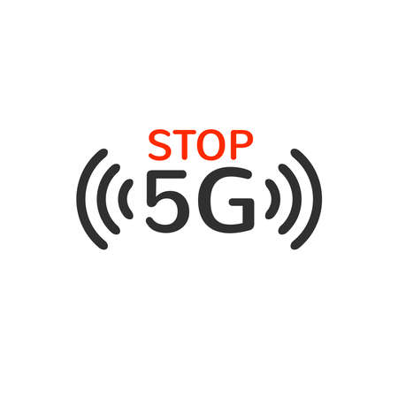 5G radiation does not spread or transmit corona virus covid-19. myth theories. fake news. conspiracy theory. Isolated vector illustration on white