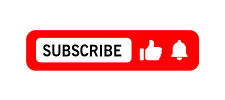 Subscribe icon shape sign. Button subscribe to channel, blog. Social media logo symbol. Vector illustration image. Isolated on white background.