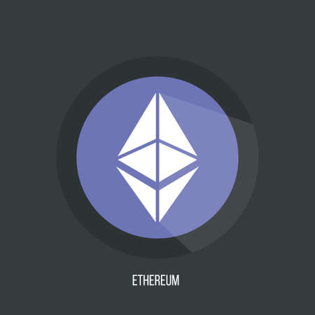 Ethereum Symbol Vector Icon, Illustration,  File. Ethereum digital currency, futuristic digital money, blue technology worldwide network concept.