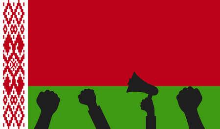 Protest in Belarus. symbol of freedom Belarus. Symbol of protest in the presidential elections in Belarus in 2020. Vector Illustration. Vecteurs
