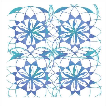 Neon pattern of mandala flower. Background pattern. Иллюстрация