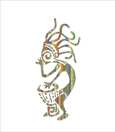 Picture of a darbuka playing kokopelli. God of love.