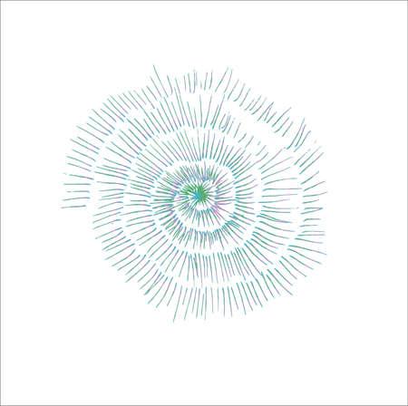 Gradient illustration of a petrified snail shell. Vector Illustration