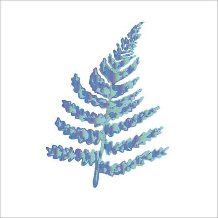 Ink illustration of a fern leaf. Idea for tattoo. Ilustrace