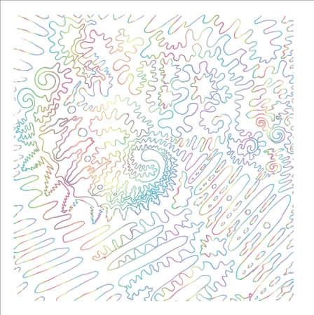 Gradient neon abstract illustration. Graphic cosmic line. Illustration