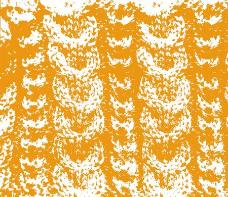 cable stitch: Knitted woolen texture braids orange and white vector
