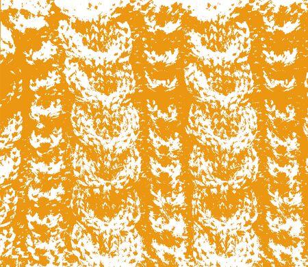 Knitted woolen texture braids orange and white vector