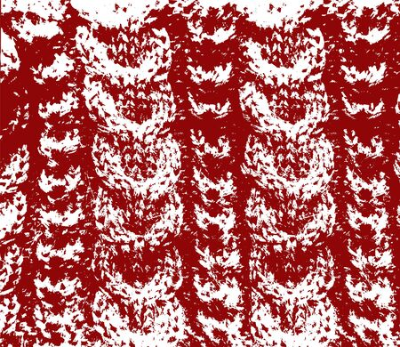 cable stitch: Knitted woolen texture braids red and white vector