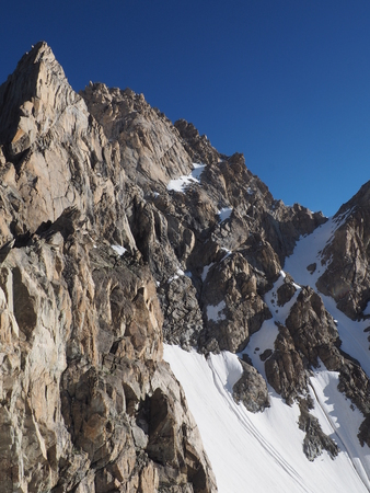 glasier: Snow and rock in the Caucasus mountain, glasier