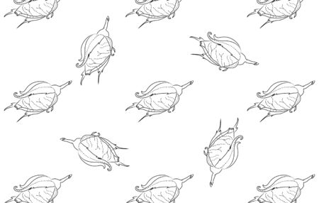 rosebuds: Rosebuds. Seamless background pattern. Hand drawn. Can be used in design, as wrap paper, cover skin, etc. - stock Illustration