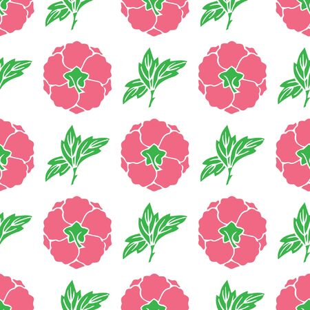 Bloempatroon, roos, piones in roze kleuren.