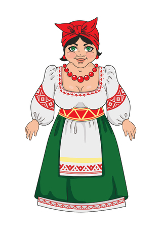 Woman in a Russian national costume  イラスト・ベクター素材