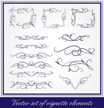 ページとカードの装飾のための vigmette 要素のベクトルを設定