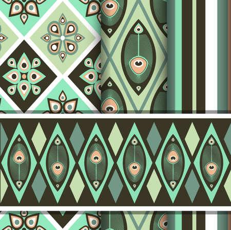 孔雀蝶インド風とのシームレスなパターンの設定します。