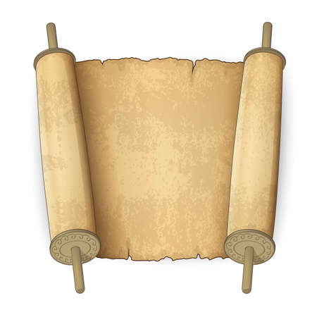 hebrew bible: Vector illustration of old scrolls with place for text