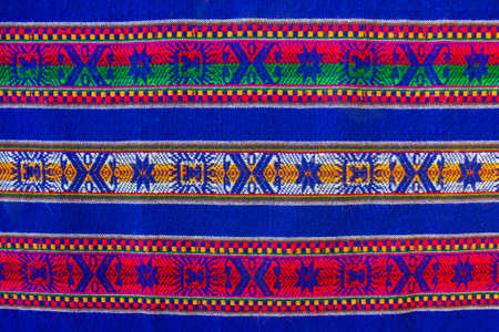bolivian: Blue national pattern of bolivian indigenous peoples