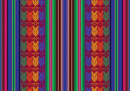 볼리비아 원주민의 전통적인 스타일 벡터 원활한 패턴 일러스트