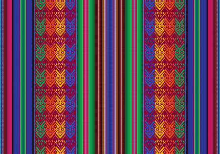 inca: Vector seamless pattern in traditional style of bolivian indigenous peoples