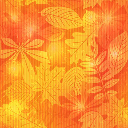 Brilliant vector seamless pattern  with autumn leaves Stock Vector - 21137050