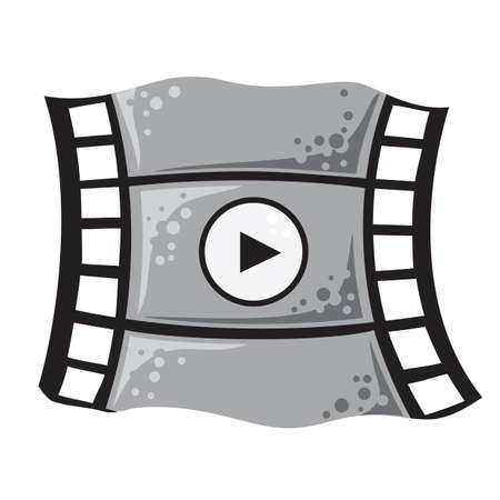 cinematographer: Vector illustration of film in cartoon style as icon of video Illustration