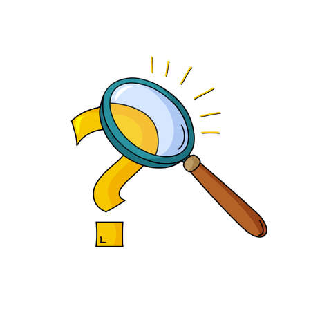 Vector illustration of research concept with magnifying glass and question Vector