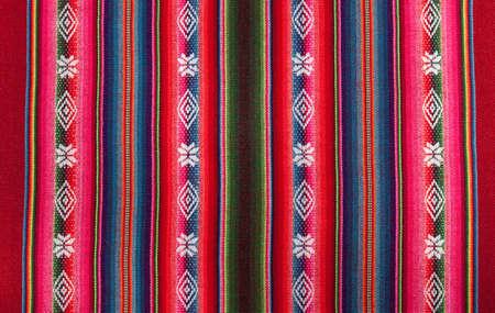 ボリビアの先住民族の赤い国家パターン 写真素材