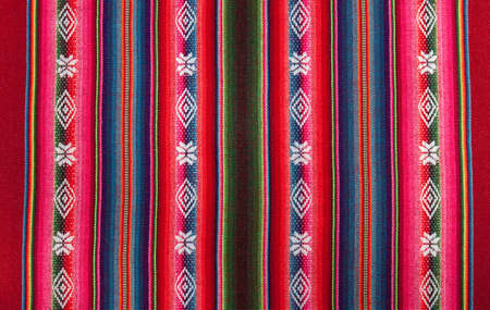 Red national pattern of bolivian indigenous peoples 版權商用圖片