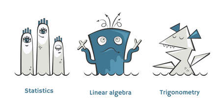 Vector math monsters Linear algebra, Trigonometry and Statistics
