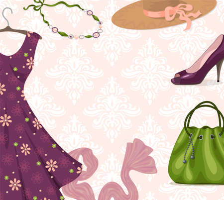 womanlike: background for clothing retail business or shopping