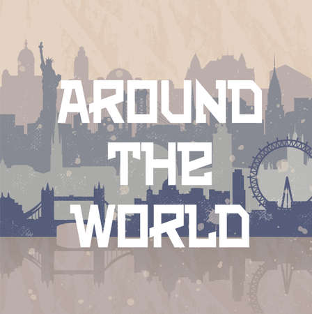 background about travel and cities Ilustrace