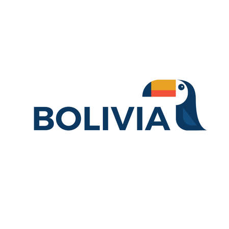 ボリビアのロゴのオオハシのベクター イラストです。  イラスト・ベクター素材
