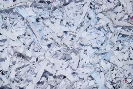 Shredded documents in an office Stock Photo