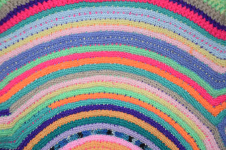 knitted structure with different colors