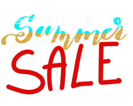 Illustration of the words summer sale Stock Photo