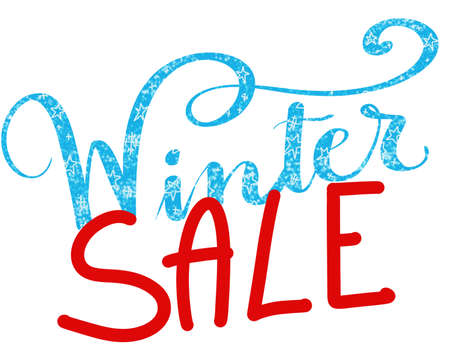 Illustration of the words winter sale Stock Photo