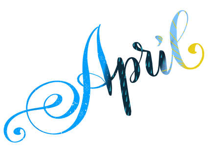 Illustration of the word April