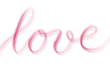 Romantic letters for valentines day and wedding