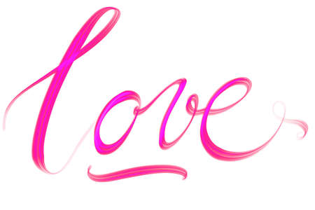Romantic lettered Word love Stock Photo
