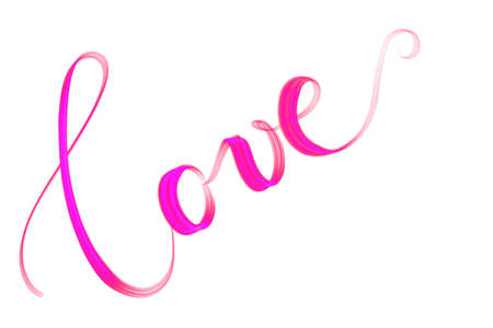 Pink lettered word love