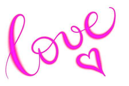 Love in neon letters
