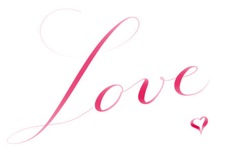 Love wriggle in romantic letters