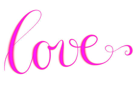 Letters Love for valentines card Stock Photo